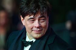 Benicio del Toro attending the european premiere of Star Wars: The Last Jedi held at The Royal Albert Hall, London. Picture date: Tuesday December 12, 2017. See PA story SHOWBIZ StarWars. Photo credit should read: Matt Crossick/PA Wire