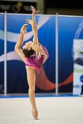 Matilde Gilardi from Nervianese team during the Italian Rhythmic Gymnastics Championship in Padova, 25 November 2017.