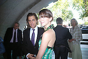 Moritz Pohl and Margot Stilley. The opening of ' Princely Spendour: The Dresden Court 1580-1620' The Gilbert Collection, Somerset House. London. 8 June 2005. ONE TIME USE ONLY - DO NOT ARCHIVE  © Copyright Photograph by Dafydd Jones 66 Stockwell Park Rd. London SW9 0DA Tel 020 7733 0108 www.dafjones.com