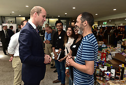 The Duke of Cambridge meets members of the community affected by the fire at Grenfell Tower in west London during a visit to the Westway Sports Centre which is providing temporary shelter for those who have been made homeless in the disaster.