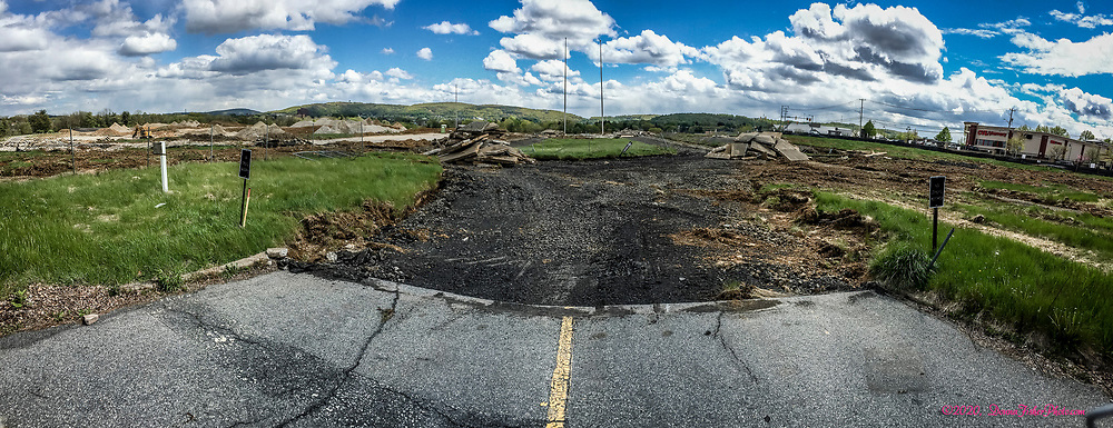 This is the former Eaton Ave. main entrance to Martin Tower.  Martin Tower, former world headquarters of Bethlehem Steel Corp., was imploded on Sunday, May 19, 2019. Here is a look at the implosion site at the intersection of Eaton Avenue and Eighth Avenue in Bethlehem, Pa. nearly one year later on May 9, 2020.<br /> - Photography by Donna Fisher<br /> - ©2020 - Donna Fisher Photography, LLC                      - donnafisherphoto.com