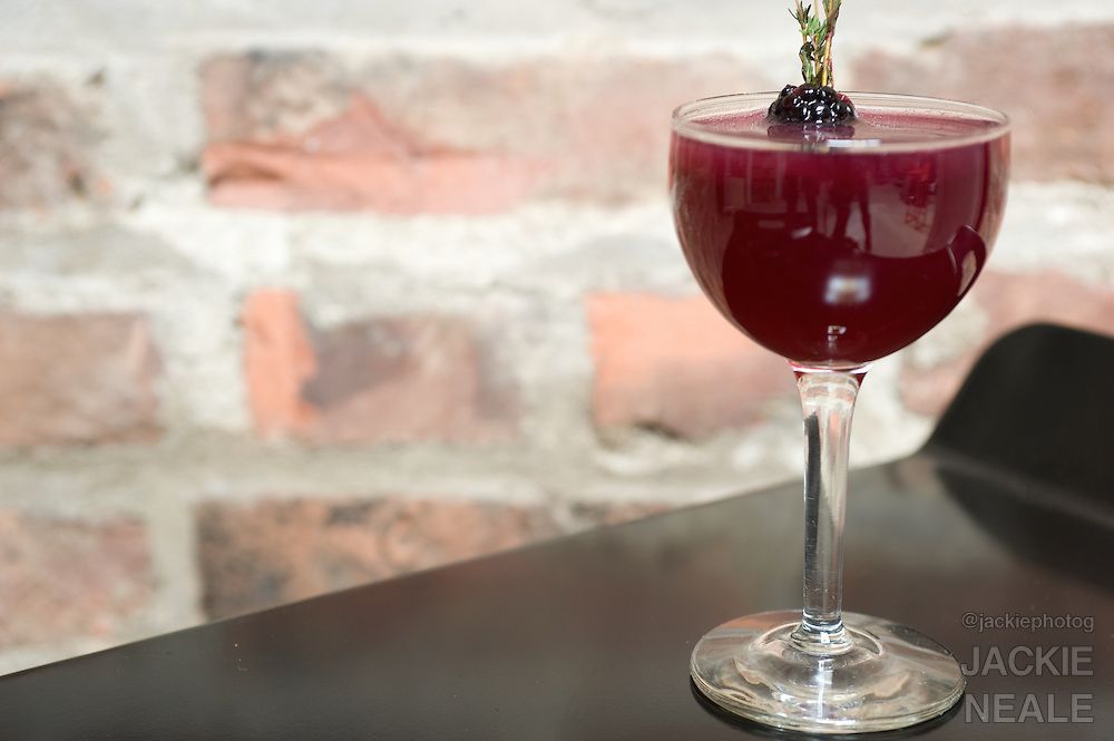 Blackberry Cocktail made with Bombay Sapphire Gin