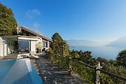 Terrace of a mountain home, exterior view