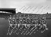 All Ireland Senior Hurling Championship Final,.04.09.1960, 09.04.1960, 4th September 1960,.Minor Tipperary v Kilkenny, .Senior Wexford v Tipperary, Wexford 2-15 Tipperary 0-11,.Tipperary Team. 04091960AISHCF,