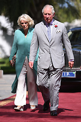 The Prince of Wales and Duchess of Cornwall arrive for a meeting with the President at the State House in The Gambia, on day two of their trip to west Africa.