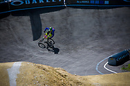 #102 (GREEN Charlotte) GBR at the UCI BMX Supercross World Cup in Papendal, Netherlands.