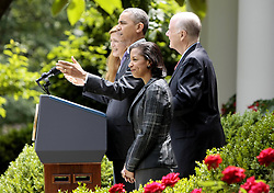 59781738  <br /> U.S. President Barack Obama (2nd L) speaks during a White House ceremony in Washington D.C., the United States, June 5, 2013. U.S. President Barack Obama on Wednesday tapped UN ambassador Susan Rice to be the next national security advisor, taking the post vacated by Tom Donilon, who has resigned, DC, USA , June 5, 2013 .UK ONLY