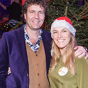 NLD/Hilversum /20131210 - Sky Radio Christmas Tree For Charity 2013, Dennis Wilt en Lucille Werner