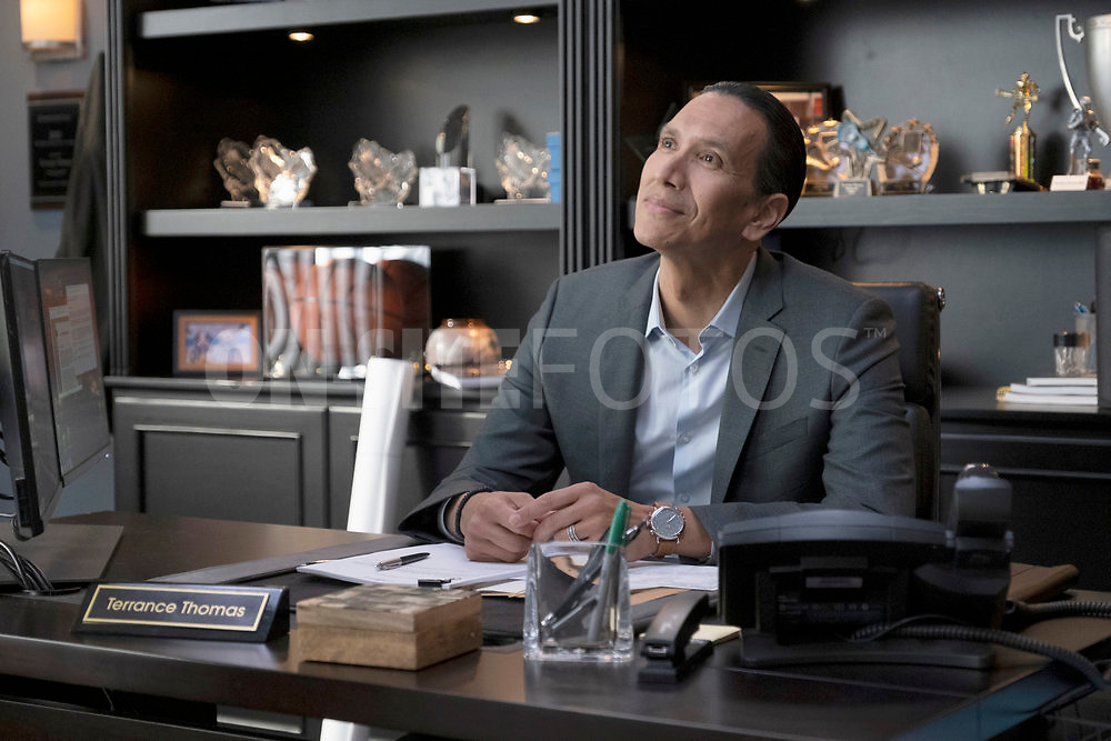 """RUTHERFORD FALLS -- """"Rutherford Inc."""" Episode 107 -- Pictured: Michael Greyeyes as Terry Thomas -- (Photo by: Colleen Hayes/Peacock)"""