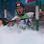 Eoin Rheinisch, Ireland,  in action during the Kayak Single (K1) Men Final during the Canoe Slalom competition at Lee Valley White Water Centre during the London 2012 Olympic games. London, UK. 1st August 2012. Photo Tim Clayton