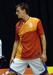 06-09-2006 BASKETBAL: NEDERLAND - SLOWAKIJE: GRONINGEN<br /> De basketballers hebben ook de tweede wedstrijd in de kwalificatiereeks voor het Europees kampioenschap in winst omgezet. In Groningen werd een overwinning geboekt op Slowakije: 71-63 / Niels Meijer<br /> ©2006-WWW.FOTOHOOGENDOORN.NL