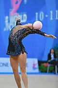 Giorgi Camilla during qualifying at ball in Pesaro World Cup 10 April 2015. Camilla is a Argentine rhythmic gymnastics athlete born on January 2, 1995 in Córdoba, Argentine.