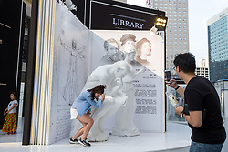 June 11, 2017 - Nanjin, Nanjin, China - Nanjing, CHINA-June 11 2017: (EDITORIAL USE ONLY. CHINA OUT) ..More than 20 book-shaped sculptures can be seen on street in Nanjing, east China's Jiangsu Province, June 11th, 2017, appealing the public to reading. (Credit Image: © SIPA Asia via ZUMA Wire)