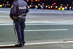 THEMENBILD - Teilansicht eines Polizisten mit Waffengurt, aufgenommen am 23. Feber 2017 in Innsbruck, Österreich // Partial view of a policeman with weapon belt, Innsbruck, Austria on 2017/02/23. EXPA Pictures © 2017, PhotoCredit: EXPA/ JFK