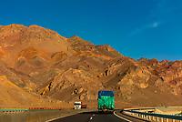 Highway between Turpan and Urumqi, Xinjiang Province, China.