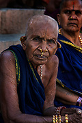 Portrait of a tribal pilgrim, Varanasi