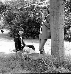 MARY QUANT and her husband ALEXANDER photographed at their home - East Hill, Farley Green, Surrey in June 1972.<br /> <br /> NON EXCLUSIVE - WORLD RIGHTS