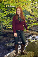 Emily senior portrait session Tannery Covered Bridge..  ©2105 Karen Bobotas Photographer