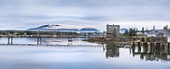 A Long Pier At Dusk In Bass Harbor, Mount Desert Island, Acadia National Park, Maine, USA