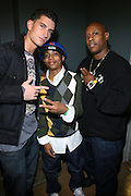 l to r: Donnie Klang, Baby Triggy, Du Love at the South Pole Fashion show during ' The Stay in School Concert ' facilated by Entertainers for Education held at The Manhattan Center on October 28, 2008 in New York City