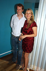 TOM PARKER BOWLES and his wife SARA at a party to celebrate the publication of 'How to Party' by Yasmin Mills with illustrations by Olympia Scarry, held at the Fifth Floor Restaurant, Harvey Nichols, Knightsbridge, London on 3rd July 2006.<br /><br />NON EXCLUSIVE - WORLD RIGHTS