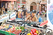 DJ playing in street market during the festival of San Gennaro (the city's patron saint), Naples, Italy © Rudolf Abraham