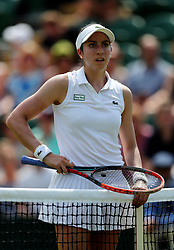Christina McHale during her match against Agnieszka Radwanska on day four of the Wimbledon Championships at The All England Lawn Tennis and Croquet Club, Wimbledon.