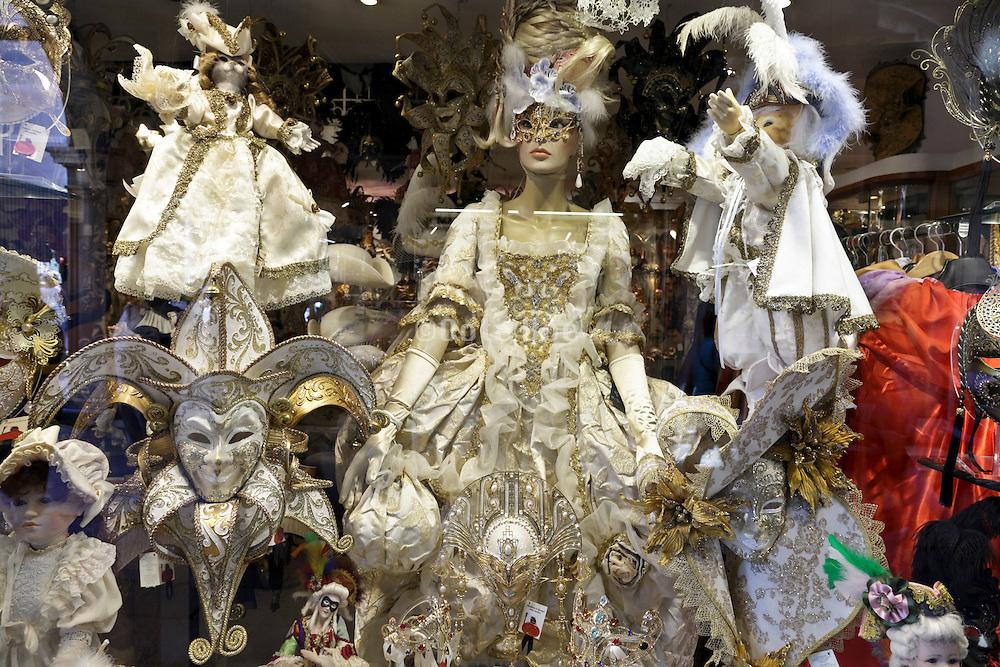 Venice carnival dresses window display