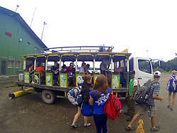 SBSJ Group Traveling By Bus To Tiputini Through Oil Company Land