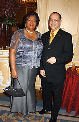 The Deputy High Commissioner of Barbados HE MR L EDWIN POLLARD & MRS POLLARD at the Holders Season Barbados Comes to London night at The Four Seasons Hotel, Hamilton Place, London on 3rd February 2006.<br /><br />NON EXCLUSIVE - WORLD RIGHTS