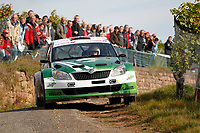 MOTORSPORT - WORLD RALLY CHAMPIONSHIP 2010 - RALLYE DE FRANCE / ALSACE  - STRASBOURG (FRA) - 30/09 TO 03/10/2010 - PHOTO : FRANCOIS FLAMAND / DPPI - <br /> MIKKELSEN Andreas (NOR) / FLOENE Ola (NOR) - SKODA Fabia S2000 - Action