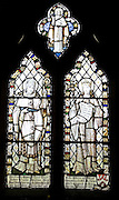 Stained glass Church of Saint Michael, Boulge, Suffolk memorial to sinking of HMS Duchess 1939
