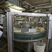 Nederland Giessen 26 augustus 2009 20090826 ..Serie over levensmiddelensector                                                                                      .HAK fabriek, verwerking zilveruitjes. Werknemers controleren het productieproces. .Employees checking  production process. ..Foto: David Rozing