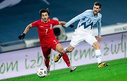 Tellur Mutallimov of Azerbaijan vs Kenan Bajric of Slovenia during friendly football match between Slovenia and Azerbaijan, on November 11, 2020 in SRC Stozice, Ljubljana, Slovenia. Photo by Vid Ponikvar/Sportida