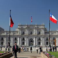 South America, Chile, Santiago. Palacio de La Moneda.