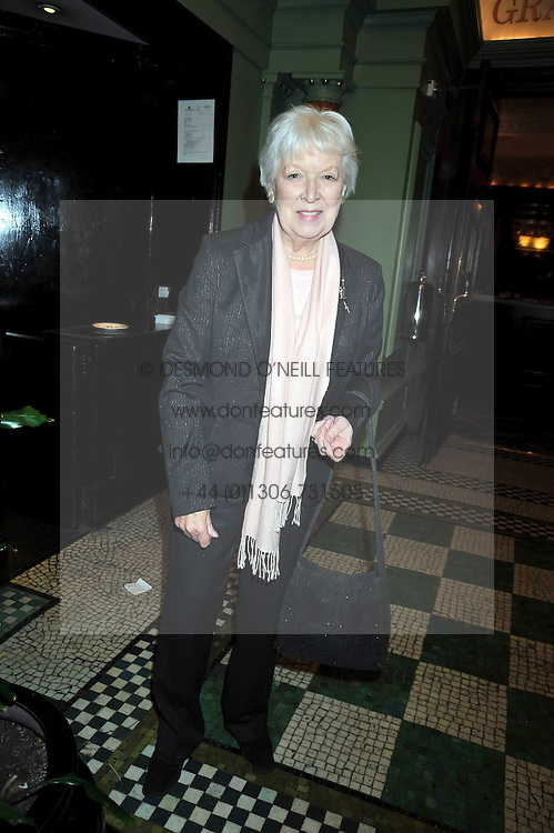 JUNE WHITFIELD at the 2009 Oldie of The Year Award lunch held at Simpson's in The Strand, London on 24th February 2009.