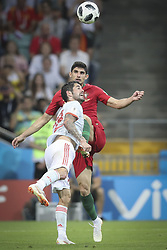June 15, 2018 - Na - Sochi, 06/15/2018 - The National Team of Portugal has faced Spain in the Group B match in the final phase of the 2018 Russia World Cup. Gonçalo Guedes and Isco  (Credit Image: © Atlantico Press via ZUMA Wire)