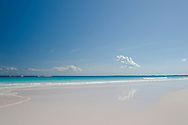 Gentle surf on Pink Sands Beach, Harbour Island, Eleuthera, The Bahamas