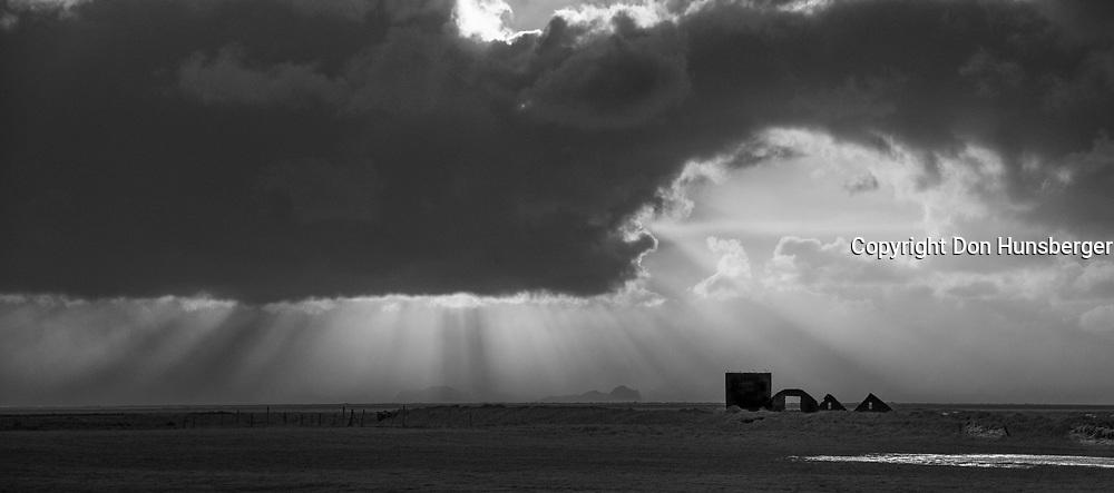 Sunbeams - south coast of Iceland.