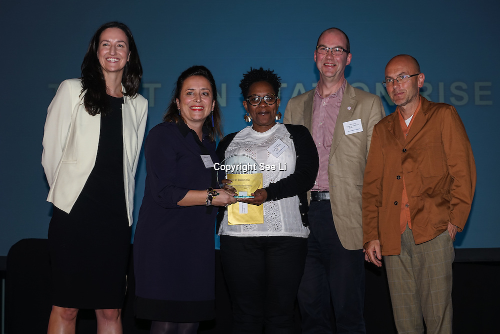 London, UK. 31th October, 2016. Laura Brown,Wayne Hemingway presents Community crowdfunding awards to Twist on Station Rise, Lambert at Team London Awards at City Hall, London,UK. Photo by See Li