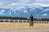 Bicycling on gravel roads of the Flathead Valley, Montana USA MR