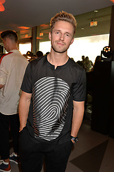 Marcus Butler at the Emporio Armani YOU fragrance launch at Sea Containers, 18 Upper Ground, London England. 20 July 2017.<br /> Photo by Dominic O'Neill/SilverHub 0203 174 1069 sales@silverhubmedia.com