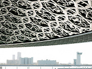 Details of the roof of the Louvre Abu Dhabi, an art and civilization museum designed by famous architect Jean Nouvel.