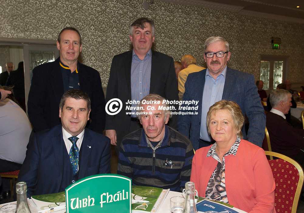 25-01-19. Leinster GAA Annual Convention 2018 at the Knightsbrook Hotel, Trim.<br /> Offaly Delegates in attendance at the Leinster GAA Convention L to R.<br /> Back: Ciaran Groome, John Irwin, Pat Horan, Secretary.<br /> Front: Michael Duignan, Chairman. Joe Higgins and Dolores Slevin.<br /> Photo: John Quirke / www.quirke.ie<br /> ©John Quirke Photography, Unit 17, Blackcastle Shopping Cte. Navan. Co. Meath. 046-9079044 / 087-2579454.