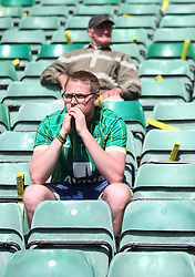 Norwich City fans look dejected at the final whistle - Mandatory by-line: Jack Phillips/JMP - 07/05/2016 - FOOTBALL - Carrow Road - Norwich, England - Norwich City v Manchester United - Barclays Premier League