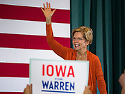 04 NOVEMBER 2019 - GRINNELL, IOWA: US Senator ELIZABETH WARREN (D-MA) speaks to a crowd of about 850 students and local residents at Grinnell College. She brought her campaign to be the Democratic nominee for the US Presidency to the college town of Grinnell, Iowa, Monday. Iowa holds the first selection event of the 2020 presidential election cycle. The Iowa caucuses are Feb. 3, 2020.           PHOTO BY JACK KURTZ