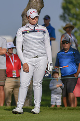 August 23, 2018 - Regina, SK, U.S. - REGINA, SK - AUGUST 23: Ariya Jutanugarn (THA) watches her tee shot on 12 during the CP Women's Open Round 1 at Wascana Country Club on August 23, 2018 in Regina, SK, Canada. (Photo by Ken Murray/Icon Sportswire) (Credit Image: © Ken Murray/Icon SMI via ZUMA Press)