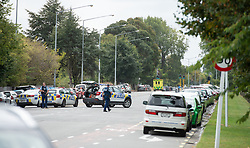 CHRISTCHURCH, March 15, 2019  Police are seen on a road in Christchurch, New Zealand, March 15, 2019. At least 40 people were killed in mass shootings in two mosques of New Zealand's Christchurch, New Zealand Prime Minister Jacinda Ardern said on Friday. (Credit Image: © Sammy Zhu/Xinhua via ZUMA Wire)
