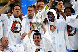 27-04-2008 VOETBAL: KNVB BEKERFINALE FEYENOORD - RODA JC: ROTTERDAM <br /> Feyenoord wint de KNVB beker - Roy Makaay, Tim de Cler, Henk Timmer, Nick Hofs, Kevin Hofland en Danny Buijs<br /> ©2008-WWW.FOTOHOOGENDOORN.NL