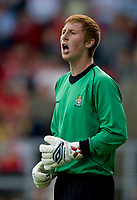 Fotball<br /> England <br /> Foto: Propaganda/Digitalsport<br /> NORWAY ONLY<br /> <br /> Wrexham, Wales - Saturday, July 7, 2007: Wrexham's Croxteth born goalkeeper Mike Jones keeps a second-half clean sheet against Liverpool during a preseason match at the Racecourse Ground.